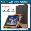 For Cube iwork10 ultimate case high quality Fashion Leather Case for Cube iwork 10 ultimate Case + free 3 gifts