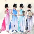 Nuevos Niños de la Ropa De Baile Yangko Abanico Chino Traje de la Danza Clásica Paraguas Danza Trajes Nacionales de Vestuario