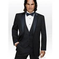 Для мужчин s классические костюмы Новый Для мужчин костюмы, костюм для свадьбы Для мужчин темно синие Лучший мужчина костюм с лацканами жени