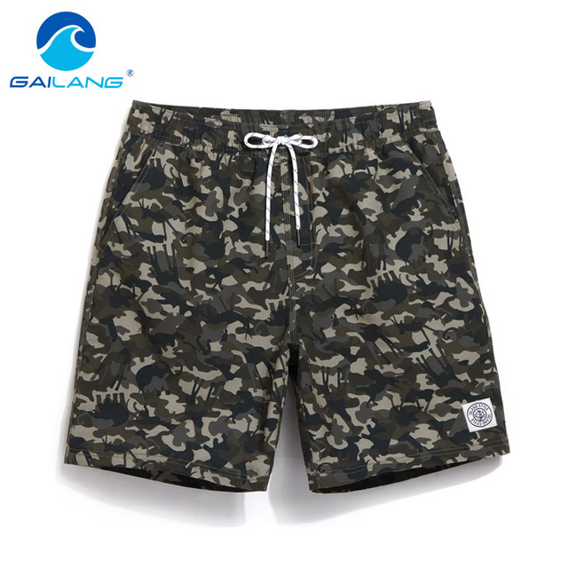 Gailang Brand Men Beach Shorts Board Boxer Trunks Short Casual Quick Drying Bermuda Short Bottoms Pants Men's Swimwear Swimsuits