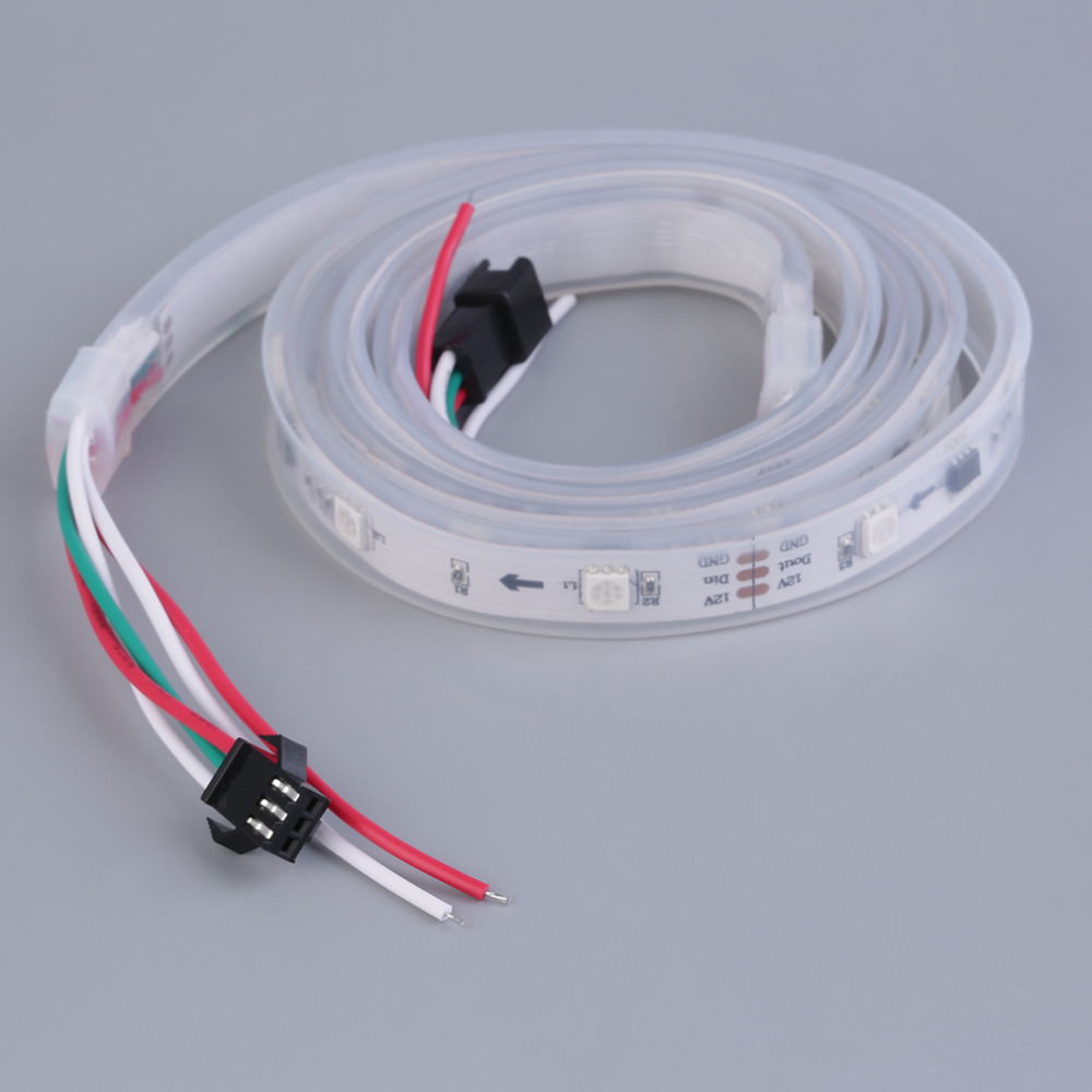 RGB Cool Warm White LED Strip Ribbon Tape Light SMD 5050 Waterproof Flexible ws2811 tiras led 12v 30/60 led Home Indoor Decor new arrival 5m 150leds waterproof rgb led strip light ws2811 5050 smd dc12v flexible light led ribbon tape home decoration lamp
