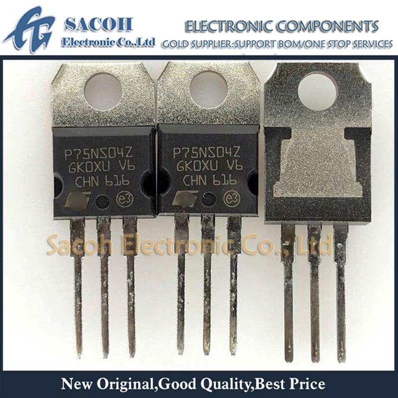 10pcs//lot STP75NS04Z P75NS04Z P75NS04 TO-220 75A 40V Power MOSFET