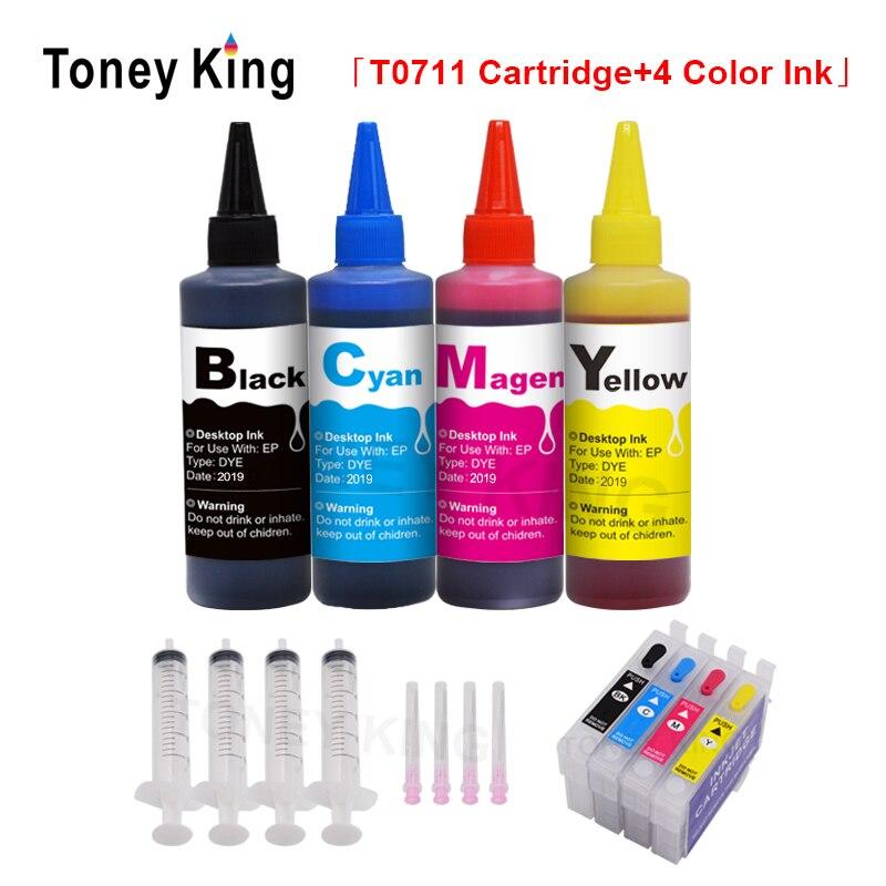 t0711 t0712 t0713 t0714 t0715 cartucho de tinta recarregaveis para epson stylus d120 dx6050 dx7400