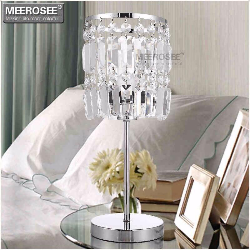 Modern Crystal Table Lamp Cristal Reading Lamp Living Room Lustres Bedroom Desk Light Bedside Light Crystal Abajur Para Quarto