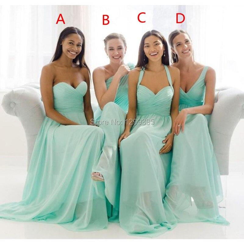 Aqua Blue Bridesmaid Dresses