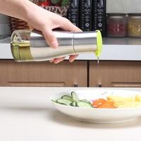 ميسون جرة مربع النفط يمكن spicr والخل وعاء مانعة للتسرب زجاجة التوابل المطبخ اكسسوارات الصحية السائل الحاويات