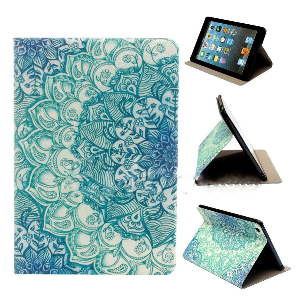 hot flower pattern flip stand pu leather case cover for. Black Bedroom Furniture Sets. Home Design Ideas