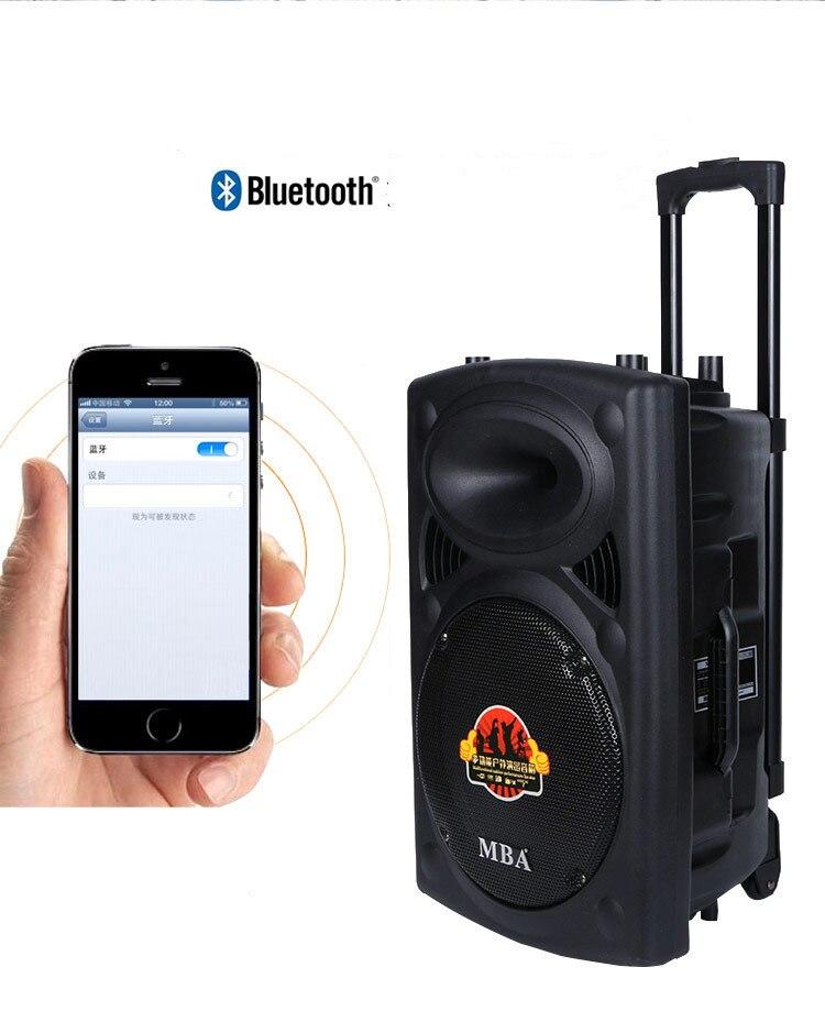 Haut-parleur Bluetooth 12 pouces bar-style audio carré promotion, vente de stand, haut-parleur multifonction universel de danse carrée
