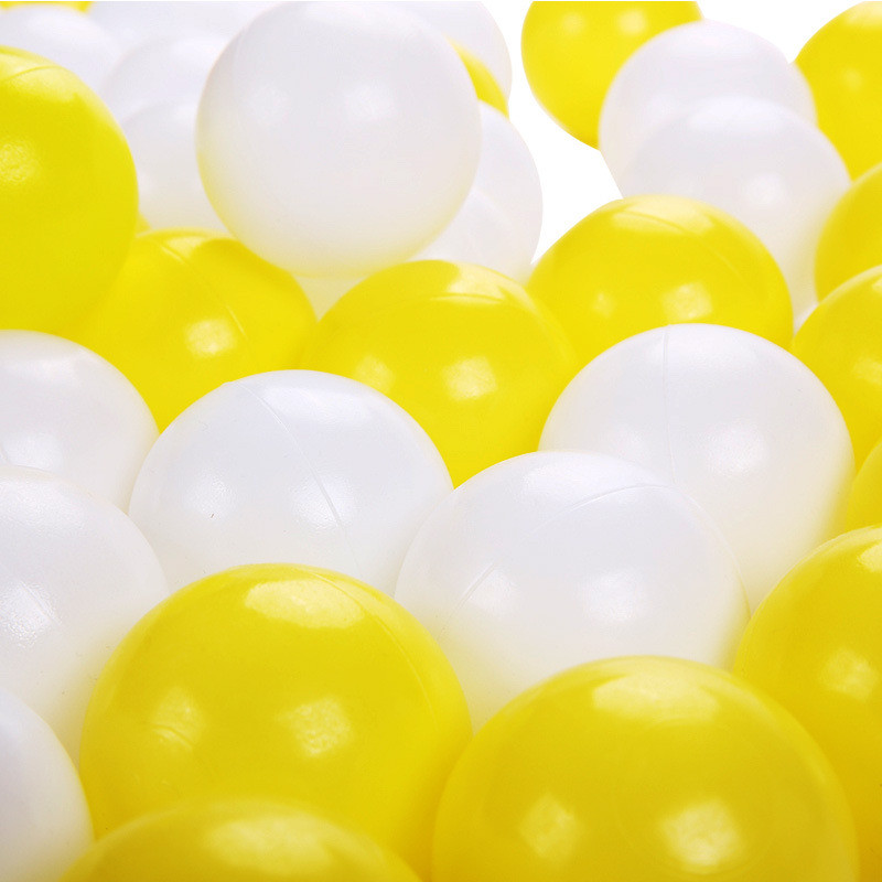 100 pcs/lot Eco-Friendly white and yellow Soft Plastic Ocean Ball Funny Kid SwimToy Water Pool Ocean Wave Ball Diameter 5.5cm