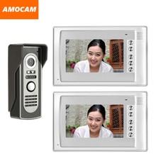7″ Monitor Video Doorbell Door Phone Kit IR Night Vision Aluminum Alloy Door Camera Video Intercom video interphone 2-Monitor