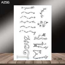 Love words Transparent Silicone Clear Stamps/seal for DIY Scrapbooking/Card Making/Photo Album Decoration Supplies