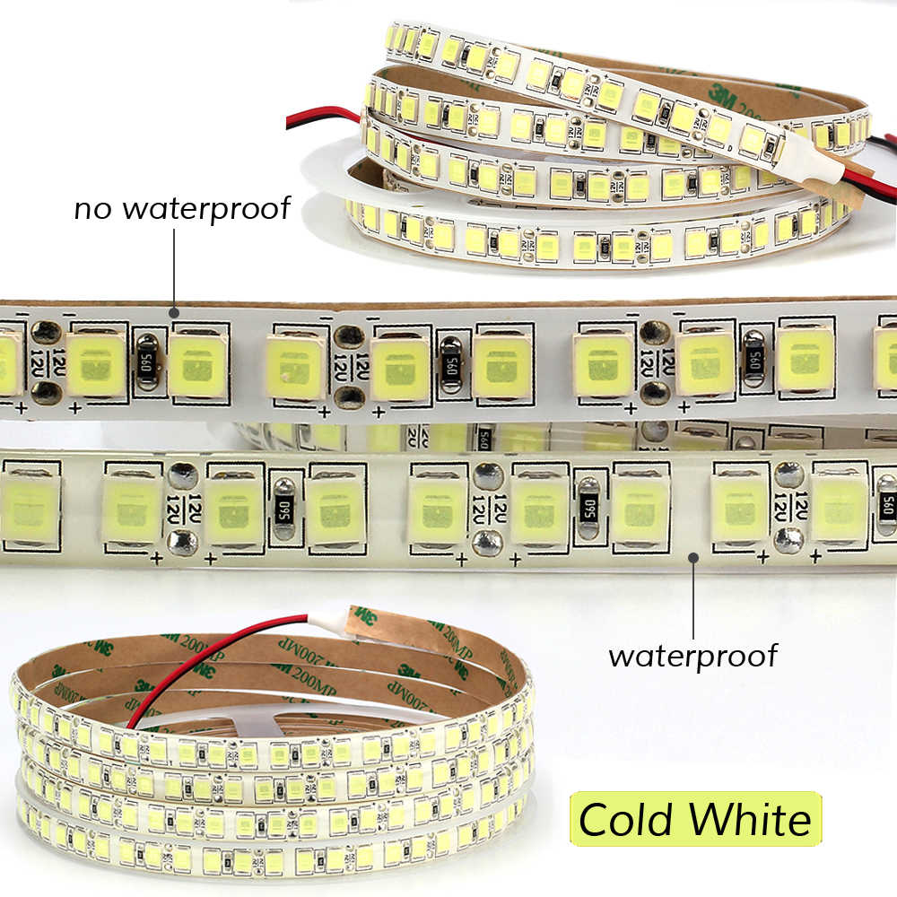 5 м 600 светодиодный 5054 Светодиодные ленты света Водонепроницаемый/не Водонепроницаемый DC12V лента ярче, чем 5050 холодный белый/теплый белый/голубой лед