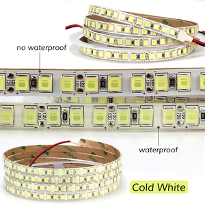 Image 2 - 5M 600 LED 5054 LED Strip Light Waterproof/Non Waterproof DC12V Ribbon Tape Brighter Than 5050 Cold White/Warm White/Ice Blue