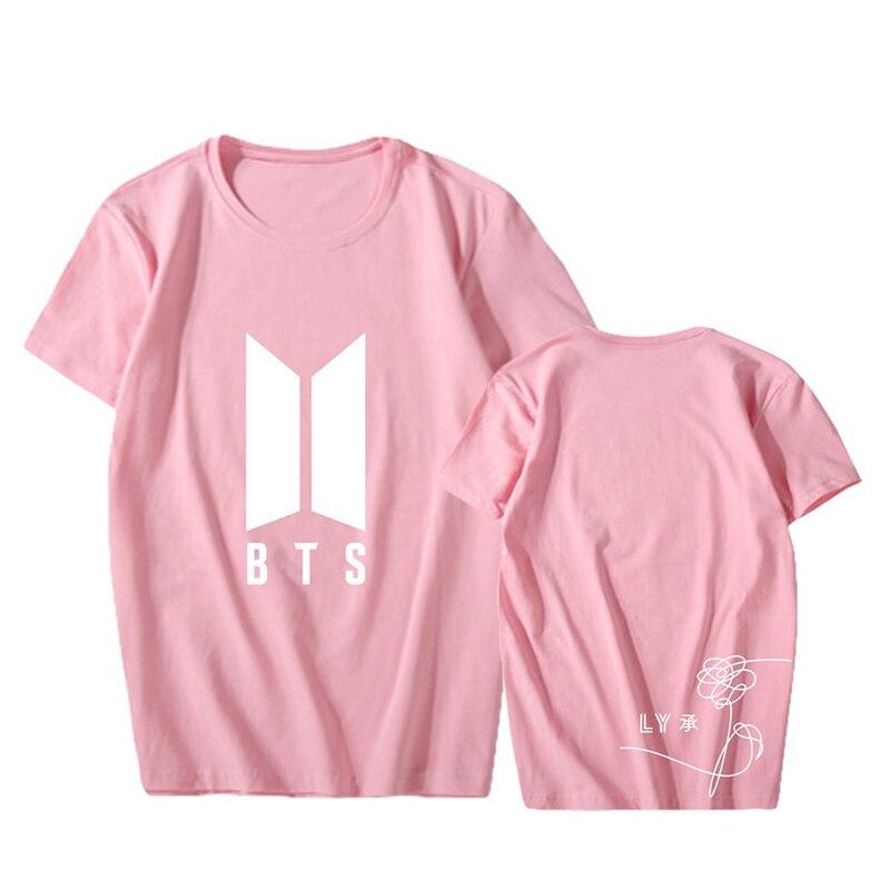 KPOP Korean Fashion BTS Bangtan Boys 2017 New Album 5th Album Love Yourself Cotton Tshirt K-POP T Shirts T-shirt PT616