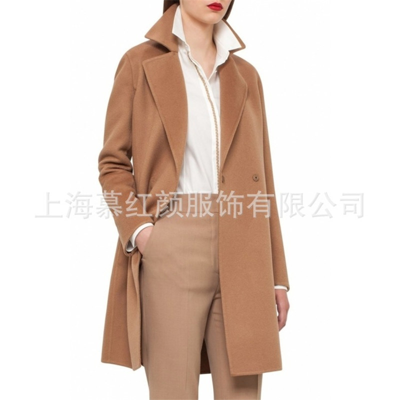 Plus Chaud La Taille Chameau Long Mode Streetwear Bureau Hiver Laine Femmes Coréenne Élégantes De 2018 Style Manteau Z6qYfY