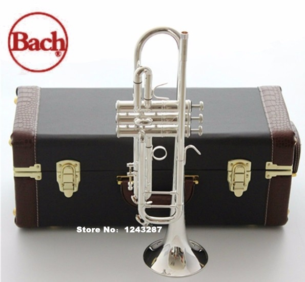 New Genuine Americano Top  trumpet gold and silver plated silver AB 190S small Musical instruments Playing professional trumpet mouthpiece set silver plated 4 sizes convertible 7c 5c 3c 1 1 2c