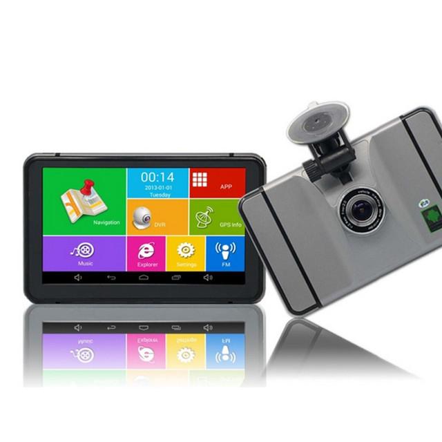 Novo 7 polegada Android GPS Do Carro Navegação Wi-fi FM Carro Camera Video Recorder DVR 1080 P Veículo Portátil Navegador GPS 512 MB/8 GB