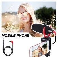DMM2 Camera Smartphone Computer Universal Video Microphone,Windproof Noise Reduction with Shockproof Mount,Sponge Windsheild