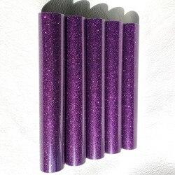 0.5*15m (20 x 42.21) glitter Heat Transfer Vinyl Für Tuch Lila Farbe Cuttable Pu Flex Vinyl Film für T-shirt Eisen Auf Vinyl