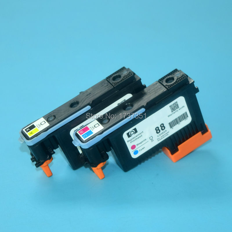 C9381A C9382A HP88 Printhead Compatible For HP K5400 K5300 K8600 L7380 L7580 L7590 K550 L7480 L7680 L7780 Print head 1set x new excellently print head for hp88 c9381a c9382a free shipping for hp 88 printhead k550 5300 5400