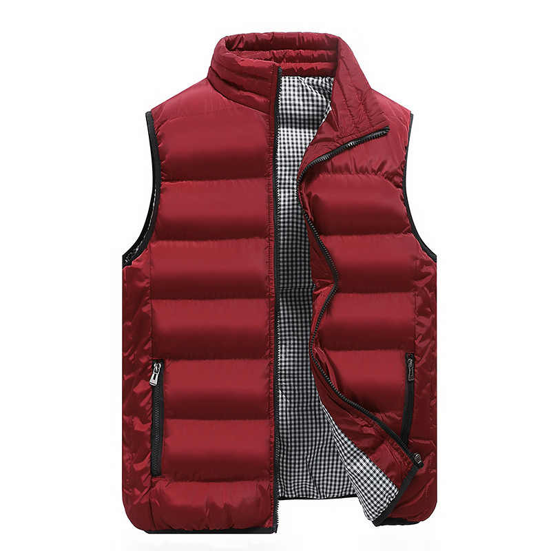Gilet Homme 2019 Mens Casual Solid Vest Men Warm Sleeveless Jacket Autumn Winter Fashion Slim Waist Coat Stand Collar Kamizelki