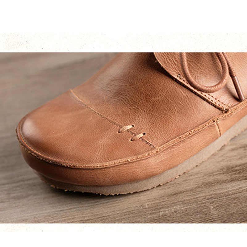Kadın ayakkabısı yeni el yapımı deri tek ayakkabı kadın sapanlar büyük ayakkabı yumuşak alt büyük boy tek ayakkabı Boyutu 35-41