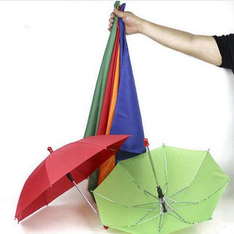 Soie à 1 set Quatre Parapluies Tours de Magie Foulards Magia Magicien Scène Illusion Gimmick Prop Drôle Mentalisme Classique Jouets