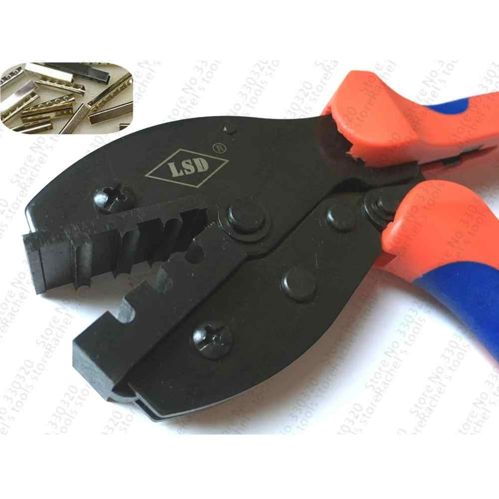 Hand aglet Crimping Pliers,crimper tools for attach metal sheath aglets to the end of laces