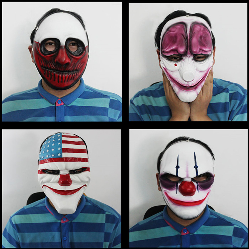 Payday 2: The Heist cosplay Mask Halloween Costumes for men Carnival masks