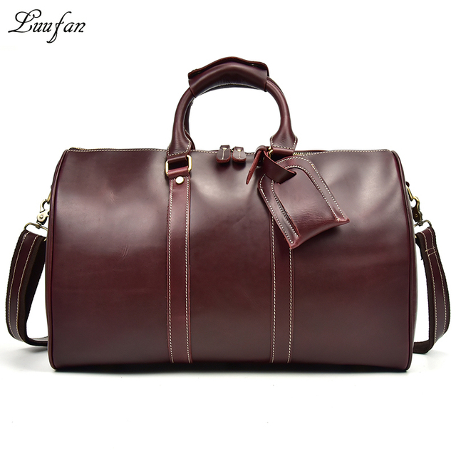 Women Glossy Genuine Leather Travel Duffel 18 Shiny Real Bag Uni Weekend