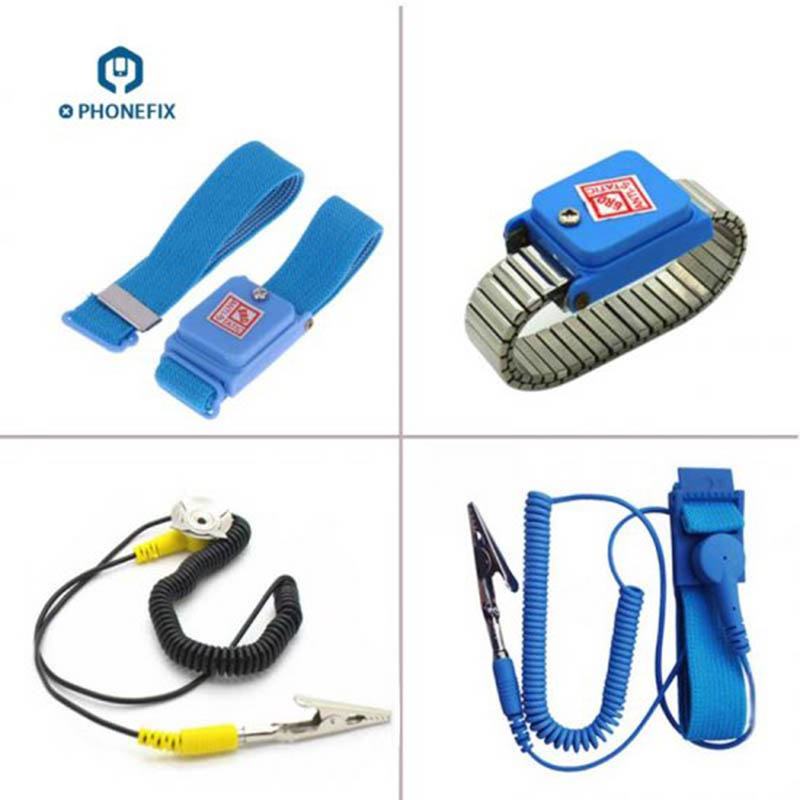 PHONEFIX Anti-Static Wristlet Cellhone Repair Wristband with ESD Cable Sensitive Electronic Equipment Repair ToolPHONEFIX Anti-Static Wristlet Cellhone Repair Wristband with ESD Cable Sensitive Electronic Equipment Repair Tool