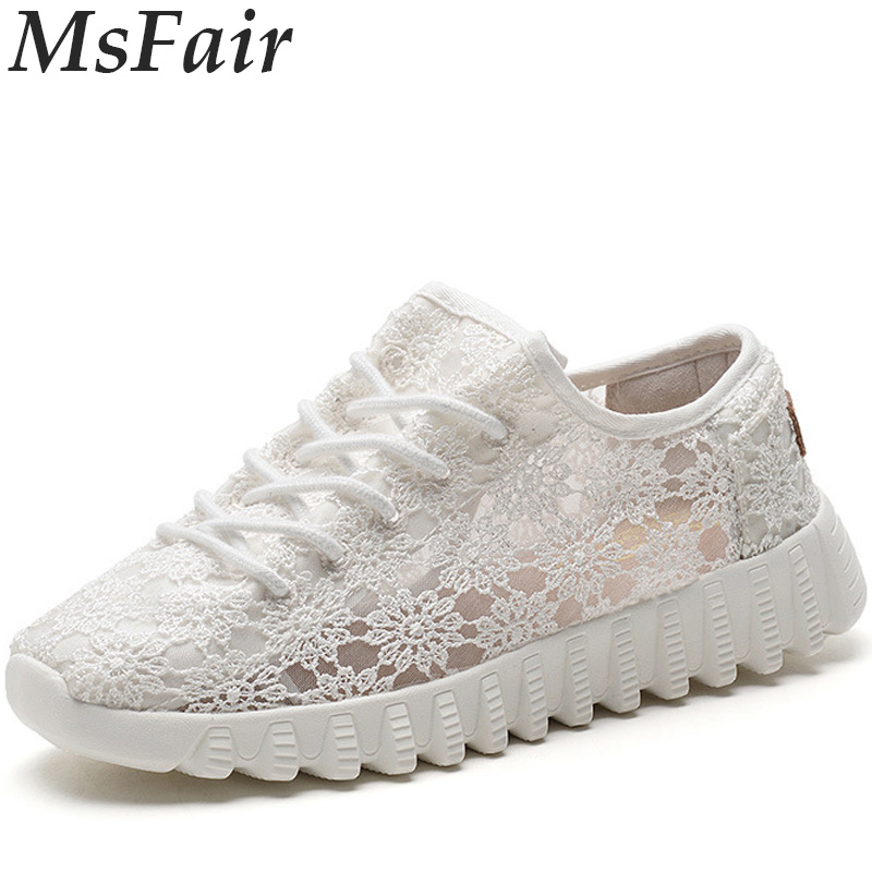 MSFAIR Summer Women Running Shoes Outdoor Athletic Woman Brand Walking Shoes Sport Shoes For Women Breathable Womens Sneakers