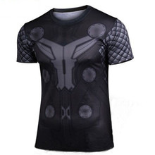 2016 the new thor short sleeve T-shirt Men's summer tight t-shirts avengers alliance campaign t-shirts wholesale and retail