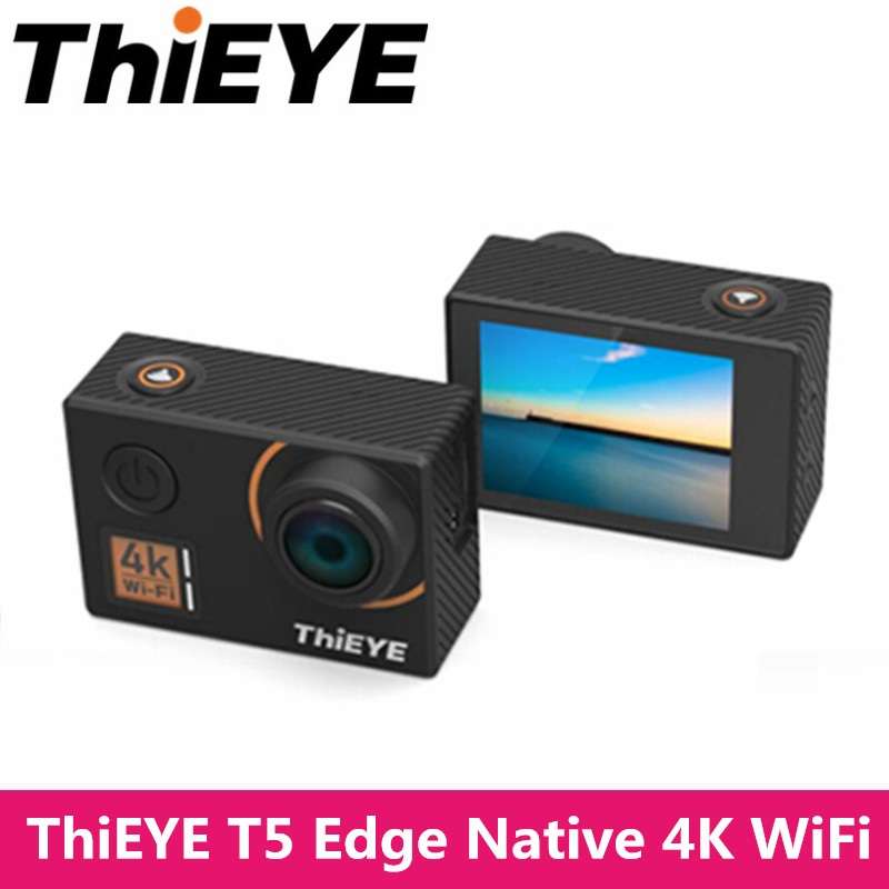 ThiEYE T5 Edge Native 4K WiFi Action Camera Cam 1080P HD Sports Camera Diving Underwater Waterproof Outdoor Voice Remote Control thieye t5e wifi 4k action camera black
