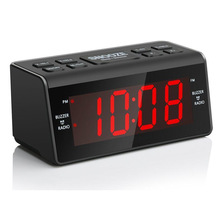 Europe LED clock With AM / FM Dual band radio home electronic alarm clock Children snooze alarm clock Student bedside clock