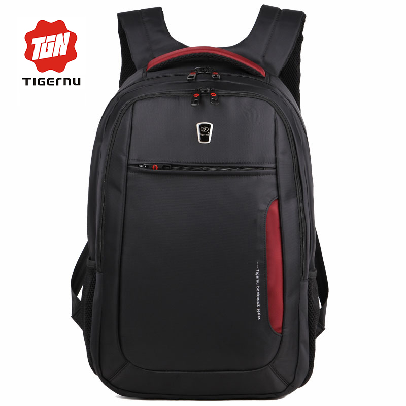 ФОТО 2017 Tigernu Brand Multifunctional Black Red Women Laptop Bag 15.6 Laptop Backpack Notebook Bag Case 15 Bag men backpack  Laptop