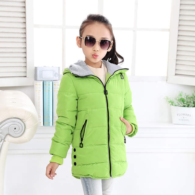 302875f2f2b2 2018 spring Winter jacket for girls clothes Cotton Padded Hooded Kids Coat  Children clothing girl Parkas