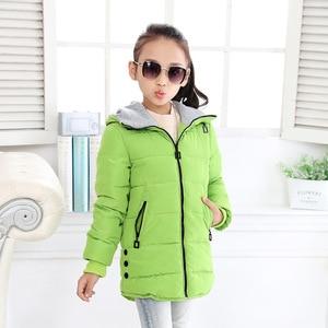 Image 4 - Весна Зима 2020, куртка для девочек, одежда детское пальто с хлопковой подкладкой и капюшоном детская одежда парки для девочек enfant, куртки и пальто
