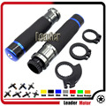 "For SUZUKI GSX-R600 GSX-R750 GSX-R1000 GSX-R 600 750 1000 GSXR1000 GSX 650F 7/8"" 22mm Carbon Fiber Handlebar Hand Grip Blue"