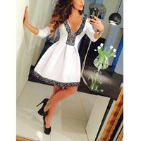 New Sexy Women Summer Lace Short Formal Dress Prom Ball Gown Evening Party Bridesmaid Dresses Free