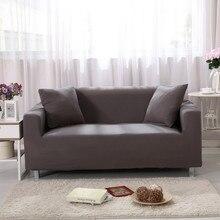 Solid Color Sofa Covers for Living Room Furniture Stretch Couch Cover Elastic Non-slip Slipcover Sofas Set Home Decor funda sofa