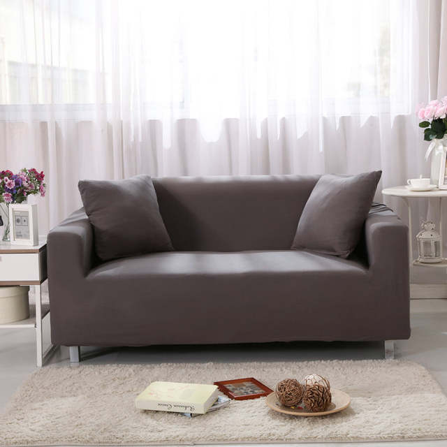 Solid Color Sofa Covers For Living Room Furniture Stretch Couch Cover Elastic Non Slip Slipcover Sofas Set Home Decor Funda In From