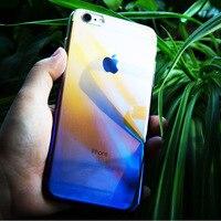 Case For iPhone 6 6S 7 Plus Luxury Aurora Gradient Color Transparent Case For iPhone6 iPhone7 Plus light Cover Hard PC Cases