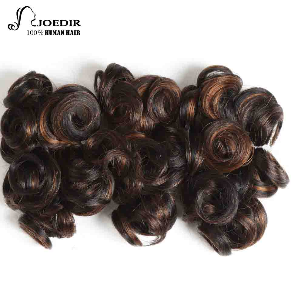 Joedir Hair Brazilian Human Hair Glam Curl 3 Bundles 100G 1 Pack 1B/30 Piano Color Non Remy Human Hair Bundles