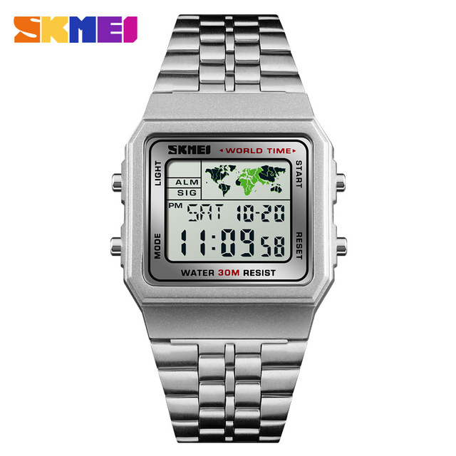 8c401d25c29b Reloj Digital a la moda SKMEI 1338 relojes deportivos impermeables para hombre  reloj de marca de
