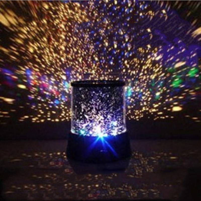 Projector Starlight Sky Star Moon Baby Romantic Color Decoration Battery Projector