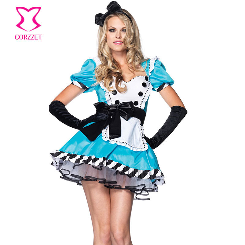 Sexy Fairy Tale Alice In Wonderland Costume Tea Party Maid -1429