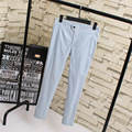 3XL 4XL Plus Size Women Pencil Pants Casual Elastic Slim Stretched Pants Trousers Black Blue Gray KK1901