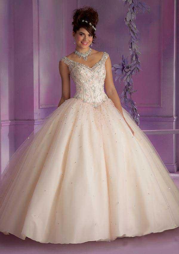Elegante y amor magnífico con cuentas Vestidos De bola piso longitud ...