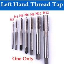 1 шт. M3/M4/M5/M6/M8/M10/M12 HSS левая ручная резьба кран машина прямой рифленый винт Резьба Метрическая вилка ручной кран ручной инструмент